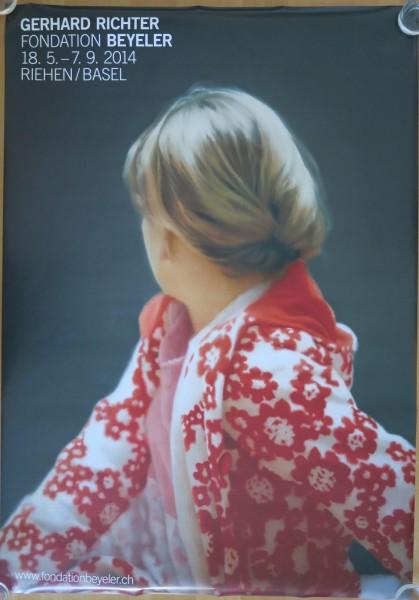 Gerhard Richter. Fondation Beyeler, 2014 Ausstellungsplakat (Betty)