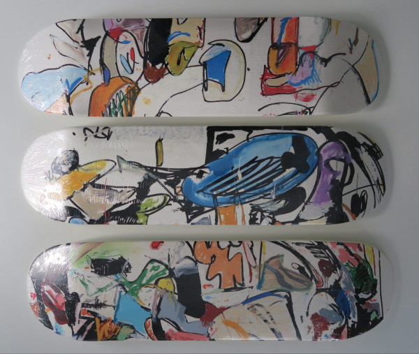 Eddie Martinez.Set of Three Skate Decks, 2016