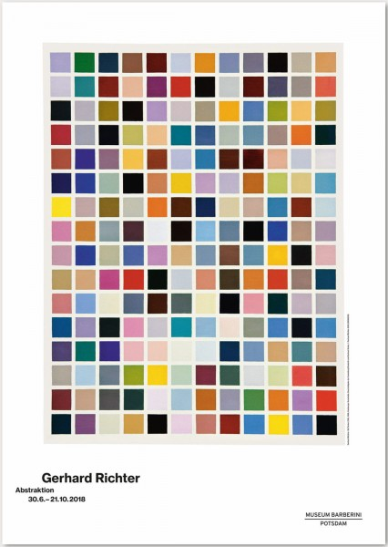 Gerhard Richter.Abstraktion, 2018 Plakat (192 Farben (136) )