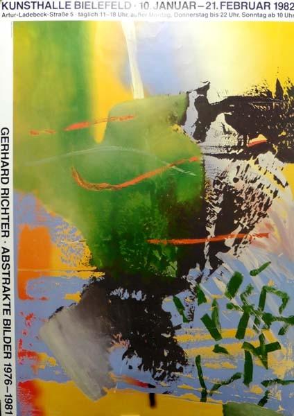 Gerhard Richter..Abstrakte Bilder 1976 bis 1981, 1982. Ausstellungsplakat