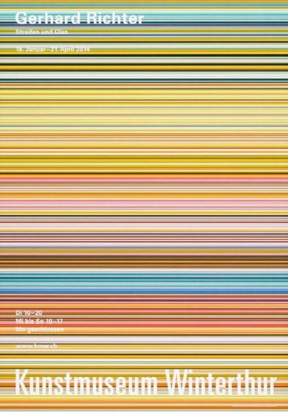 Gerhard Richter. Streifen und Glas, 2014 Ausstellungsplakat Winterthur 2