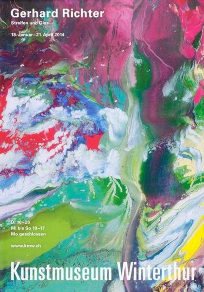 Gerhard Richter. Streifen und Glas, 2014 Ausstellungsplakat Winterthur 1