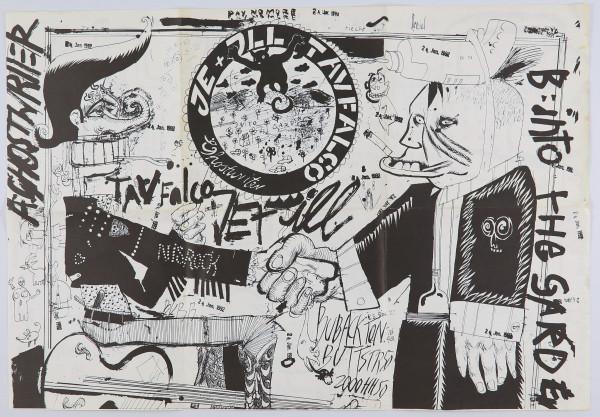 """Daniel Richter. 7"""" Schallplatte Je & Ill & Tav Falco – Ghost Writer"""