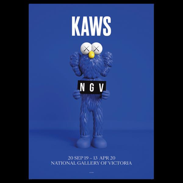 KAWS. Poster BFF Blue, 2019