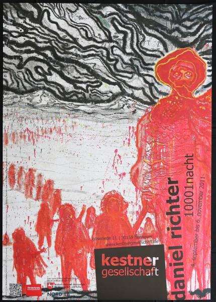 Daniel Richter. 1001nacht, 2011 Ausstellungsplakat