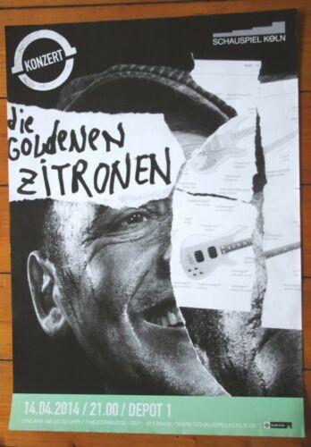 Daniel Richter. Plakat. Die goldenen Zitronen