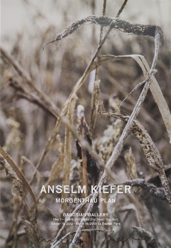 """Anselm Kiefer: Ausstellungsplakat """"Morgenthau Plan"""", 2013. signiert"""