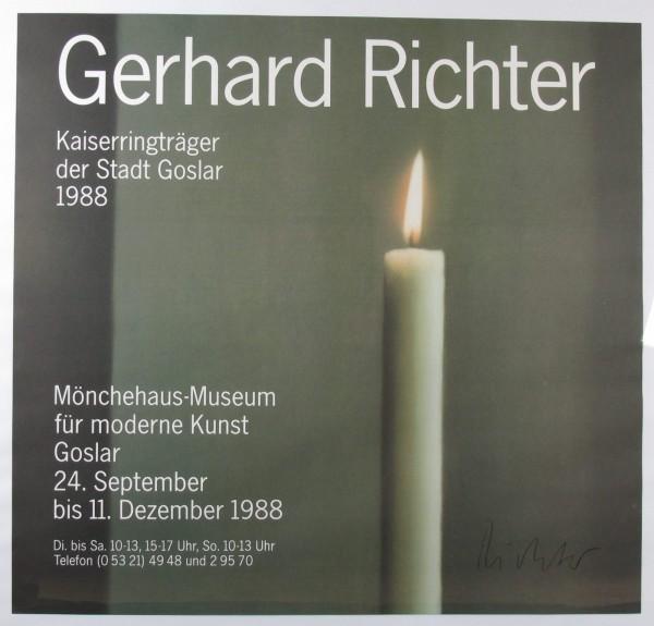 Gerhard Richter. Plakat, Mönchehaus Goslar, 1988. signiert