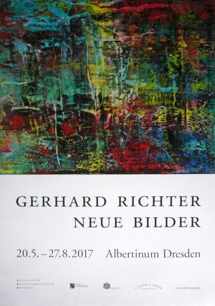 Gerhard Richter. Neue Bilder, Dresden 2017 (Plakat)