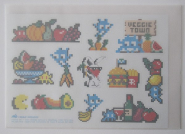 Space Invader.Veggie stickers, 2018