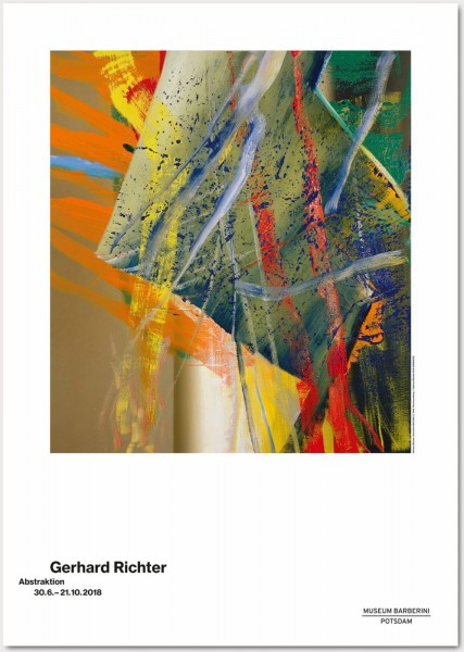 Gerhard Richter.Abstraktion, 2018 Plakat (ABSTRAKTES BILD (568-1) )