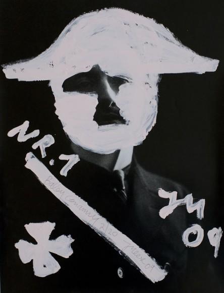 Jonathan Meese.BABYCONANNY S GEOMETRIEBABY-SERIE AM PIZ PALÜ (Gralsbaby d Annunzioz), 2009