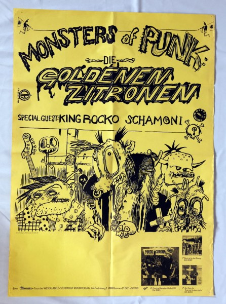 "Daniel Richter. Plakat ""Die goldenen Zitronen - Monsters of Punk"""
