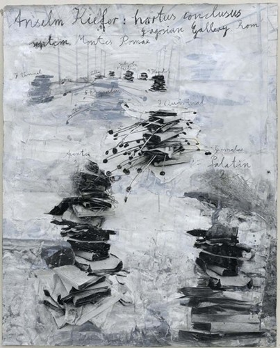 "Anselm Kiefer. Ausstellungsplakat ""hortus philosophorum"", 2009"