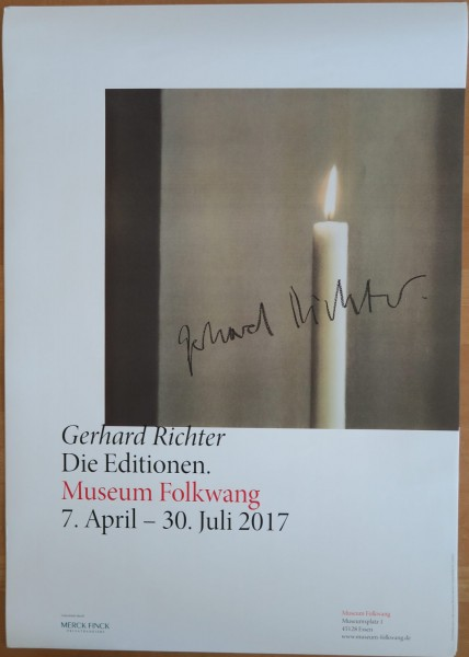Gerhard Richter. Die Editionen, Museum Folkwang, 2017 Ausstellungsplakat