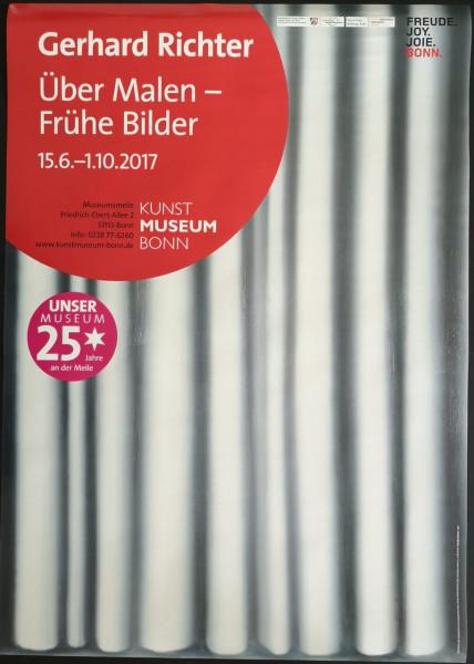 Gerhard Richter. Über Malen - Frühe Bilder. Ausstellungsplakat, 2017
